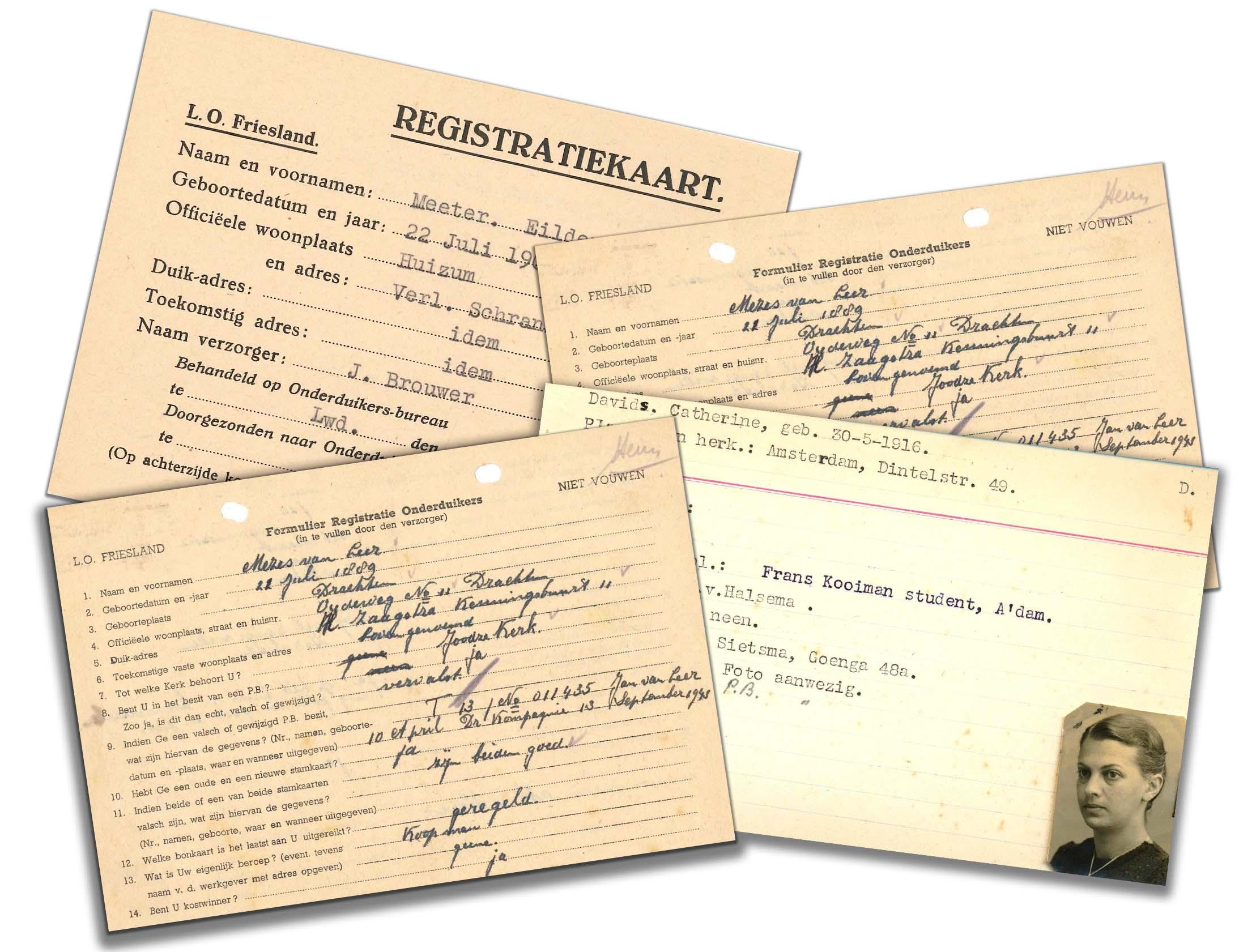 Voorbeelden registratiekaarten